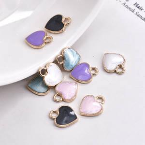 Earrings Pendant Diy-Accessories Enamel Charm Heart Cartoon Lovely 30pcs/Lot New Simple