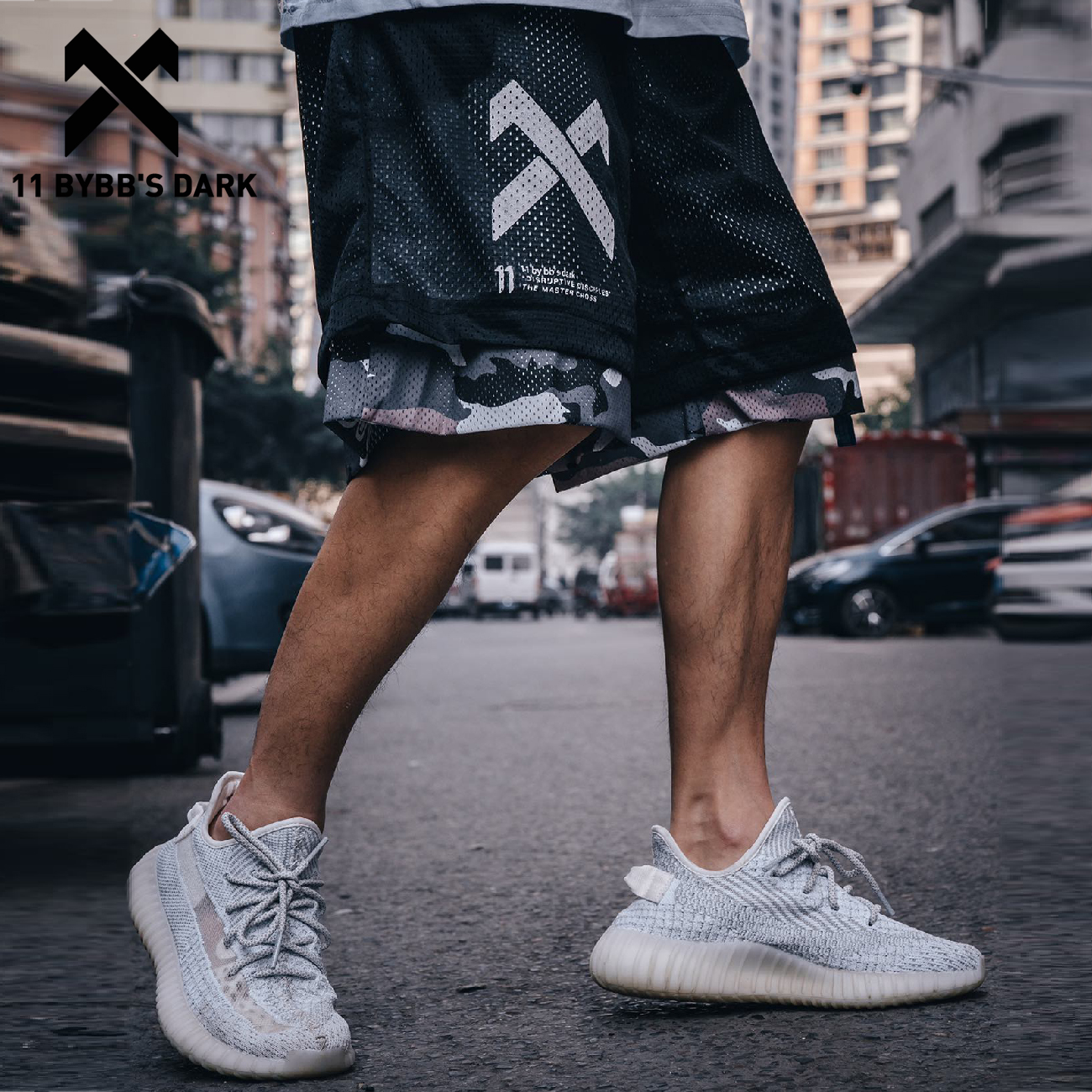 11 BYBB DARK Hip Hop Cargo Shorts Men 2020 Summer Reversible Streetwear Camouflage Shorts Mens Knee Length Joggers Sweatpants