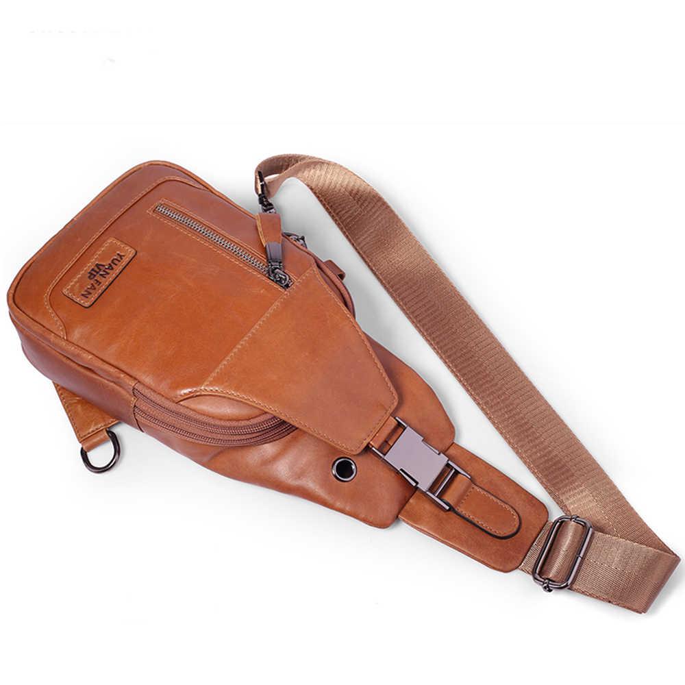 Мужская нагрудная сумка, модная кожаная сумка на плечо, сумка для отдыха и путешествий, сумки через плечо для мужчин, маленькая сумочка