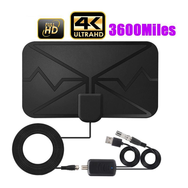 Antena amplificada 4k 3600 da tevê da antena 4k DVB-T2 do canal local da antena da tevê de digitas das milhas
