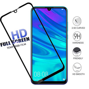 2pcs 9D Full Cover Protective Glass For Huawei Y6 Y9 P Smart 2019 Glass For P Smart Plus Nova 4 3i Honor 8X 8A Tempered Glass(China)