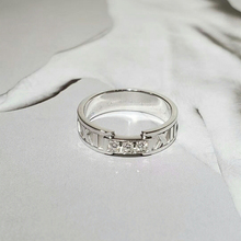 Original 100% S925 Sterling Silver Ring Roman Numerals Ring Women Logo High-End