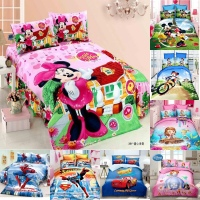 Disney Minnie Mouse Sophia Spiderman Babies Bedding Sets Duvet Cover Bed Sheet Pillowcase Children Boys Girls 1.0m 1.2m Bed