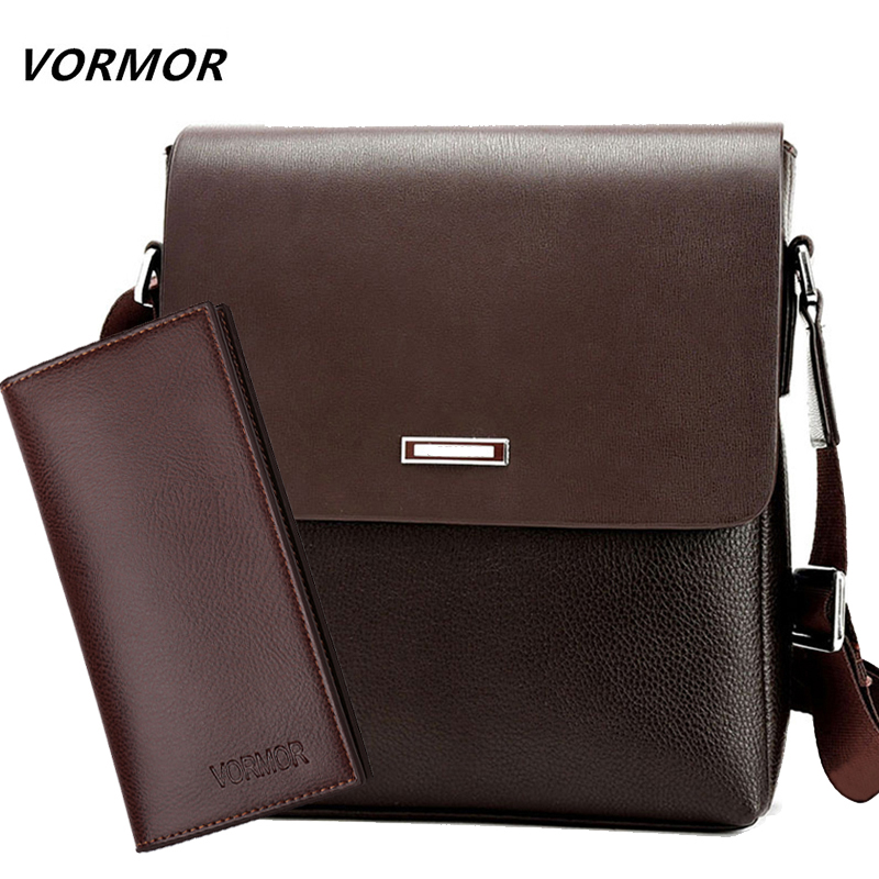 VORMOR 2019 Promotion Designers Brand Men's Messenger Bags PU Leather Vintage Men Shoulder Bag Man Crossbody bag