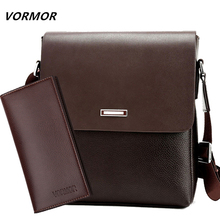 VORMOR 2020 Promotion Designers Brand Mens Messenger Bags PU Leather Vintage Men Shoulder Bag Man Crossbody bag