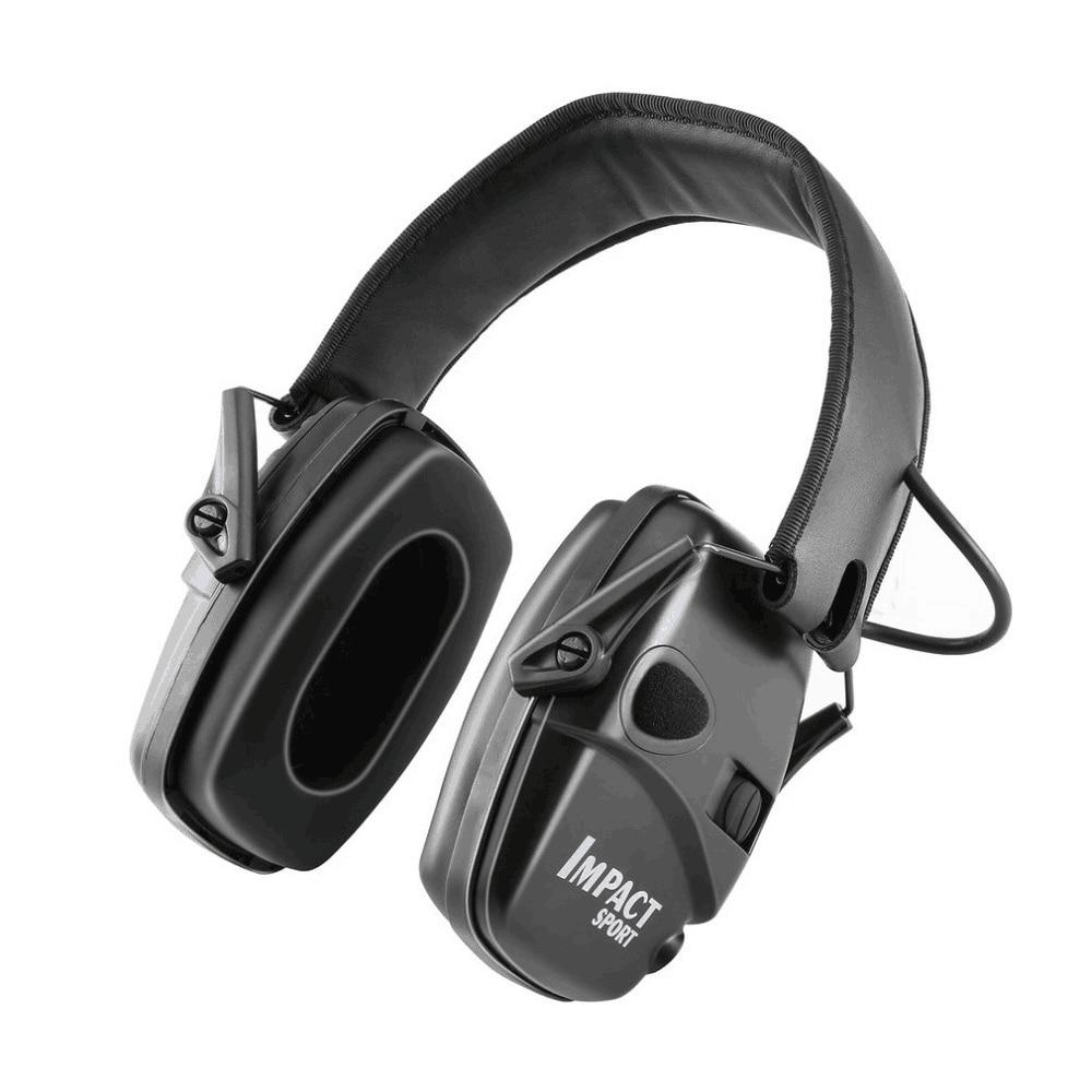 Cache-oreilles de tir électronique sports de plein air tactiques d'amplification anti-bruit chasse casque de protection auditive pliable