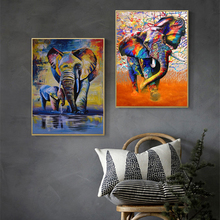 Modern Animal Graffiti Art Elephant Canvas Painting Wall Art Posters and Prints for Living Room Wall Pictures Decor Home Cuadros modern nordic elegant ballet dancer canvas painting wall art posters and prints for living room wall pictures home cuadros decor