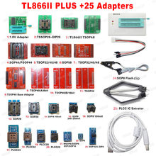 2021 mais novo tl866ii plus + 25 adaptadores universal original minipro programador tl866 nand flash avr pic bios leitor