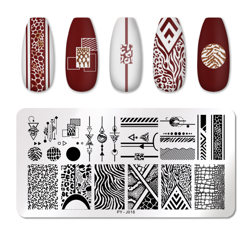 PICT YOU 12*6cm Nail Art Templates Stamping Plate Design Flower Animal Glass Temperature Lace Stamp Templates Plates Image 49
