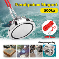 500KG Double Sided Neodymium Fishing Magnets,90Mm Diameter, Combined Pulling Force Rare Earth Magnet Magnet