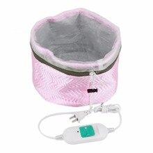 Термостатический Электрический колпачок для волос Термическое Лечение Красота Пароварка спа Питательный Уход за волосами шапочка стиль производитель