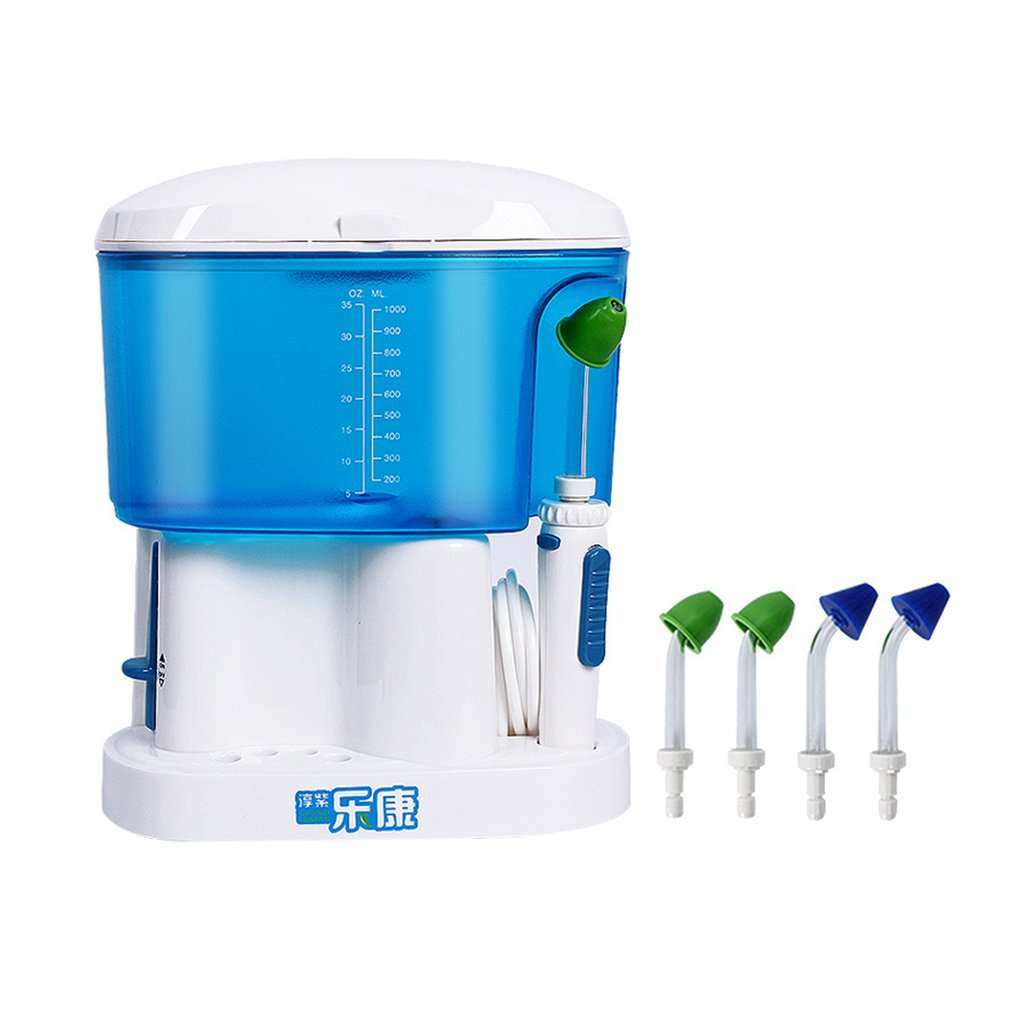 Electric Pulse Oral Irrigator Plaque Removal 220V Dental Water Flosser 1000ml Household Tooth Washing Device US Plug