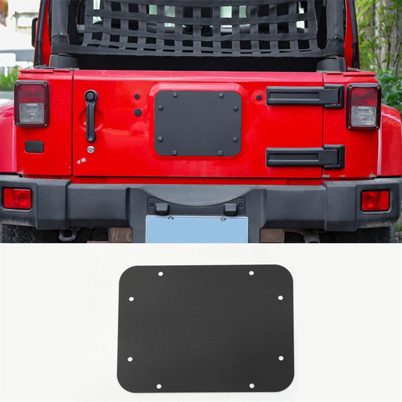 TORE Jeep JK License Plate Steel Delete Cover