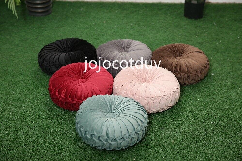 Hbb8afeb4c824470a84d667ee090ecffeu 35*35x11cm European style round Seat cushion/Back cushion or as home decor pillow sofa pillow velvet fabric