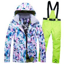 New ski suit women's windproof, waterproof, warm and breathable single and double boards(China)