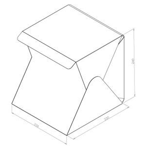 Image 5 - جديد المحمولة للطي صندوق الضوء التصوير مصباح ليد غرفة صور إضاءة الاستوديو خيمة لينة صندوق الخلفيات للكاميرا DSLR