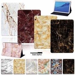 Чехол для планшета Huawei MediaPad T3 8,0/T3 10 /T5 10/M5 Lite 10,1/M5 10,8 дюйма, чехол из искусственной кожи с защитой от падения + Бесплатный стилус
