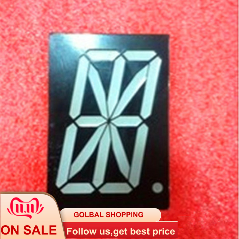 2pcs 16 Segment 1Digit Bit 1-digit LED Display 2.3inch Common Anode 16-segment LED Display Module Tube RED 2.3