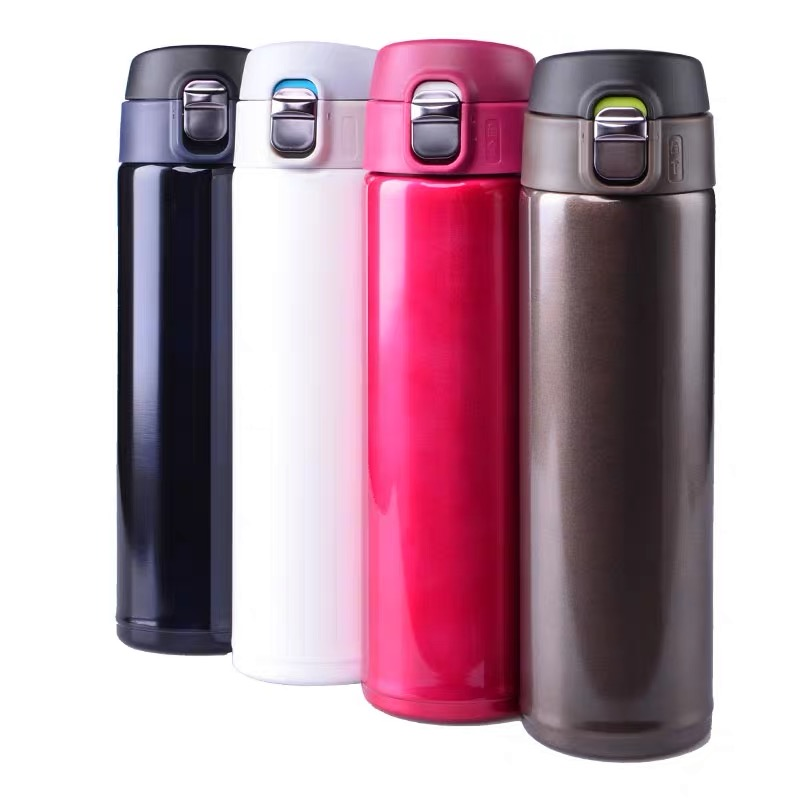 17 Ounces Double Wall Vacuum Insulated Stainless Steel Travel Water Bottle with Flip Open Lid for Hot or Cold Drinks image