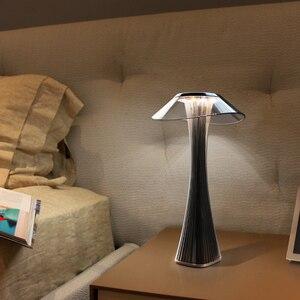 Image 4 - Светодиодная настольная лампа, удобный и мягкий светильник для спальни/офиса, Настольный светильник со встроенной USB зарядкой и аккумулятором, 3 режима