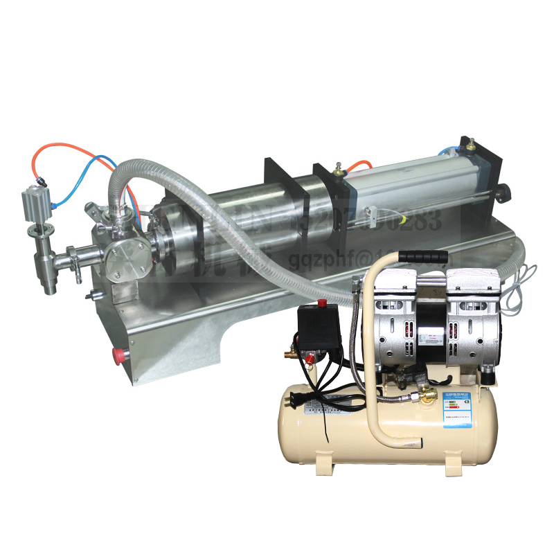 Alcohol Gel 100-1000ML Pipe Drawing Rotary Piton Filling Machine Pnuematic Filler For Tomato Paste Ketchup Filler Aircompressor