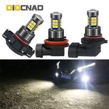 цена на 1pcs Car LED Fog Light Lamp Bulb H8 H11 H16 9006 For peugeot 206 307 sw 407 partner 508 308 406 301 5008 2008 408 fusion ranger