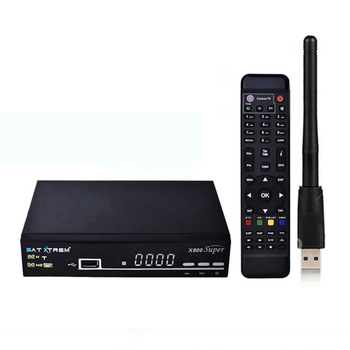 Satxtrem X800 Super Ccam Satellite TV Receiver With MT7601 Wifi Receptor Azamerica Digital DVB S2 TV Turner Receiver Openbox