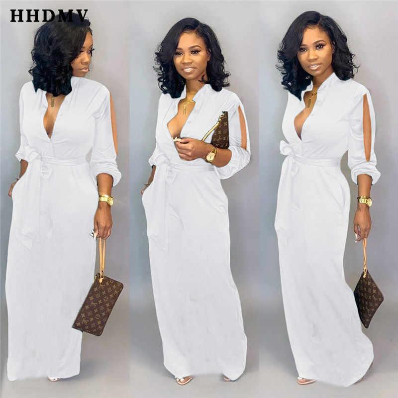 HHDMV LSD8606 mode offre spéciale réduction de l'âge outillage style robe à manches longues simple boutonnage blanc plancher longueur longue robe