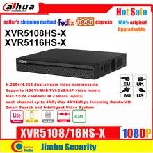 Dahua XVR XVR5108HS X XVR5116HS X 8ch 16ch 최대 6MP H.265 H.264 스마트 검색 Penta brid 1080P IVS 디지털 비디오 레코더 DVR