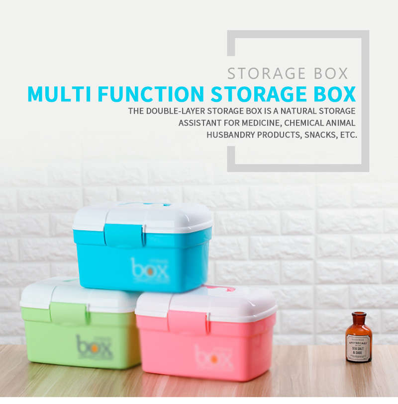 First Aid Kit  Small Fresh Medicine Box Home Manicure Toolbox Foot Technician Box Art Tool Storage Box