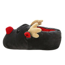Women Winter Slippers Plush Christmas Deer Cotton Slippers Cute Soft Bottom Cotton Shoes Warm Indoor House Slides pantuflas A40(China)