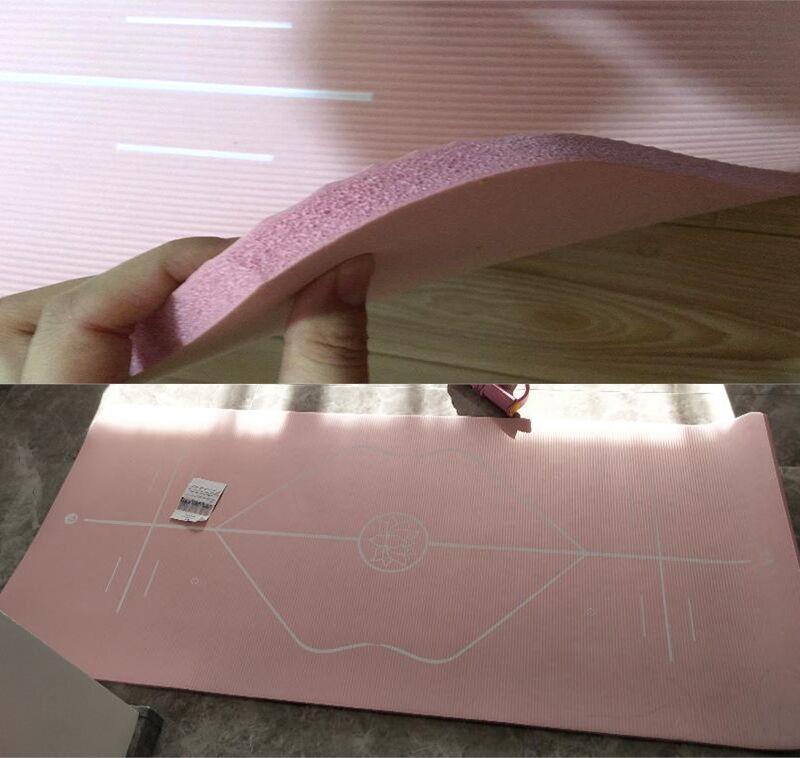 10mm Yoga Mat for Beginner with Position Line Non-slip Gym Yoga Mat Thicken Widen Men Women Yoga Exercise Dance Fitness Mat 26