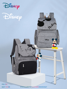 Disney 1Pair Free Hooks Diaper Bag Backpack Travel Mummy Bag Baby Bags For Mom Backpack Nappy Bag Brand For Travel Cute Mickey