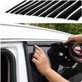 Автомобиль хром литье триммер газа, кузов Машины окно декоративной планкой, автомобиль край двери в полоску черный мягкий ПВХ Хром DIY Литье ...