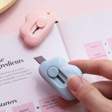 Милый облачный Цвет Мини Портативный нож для резки бумаги бритва лезвия офисные канцелярские принадлежности Escolar Papelaria