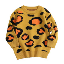 24M to 6 years baby & kids girls long sleeve knitted leopard print pullover sweaters children fashion fall winter sweater tops