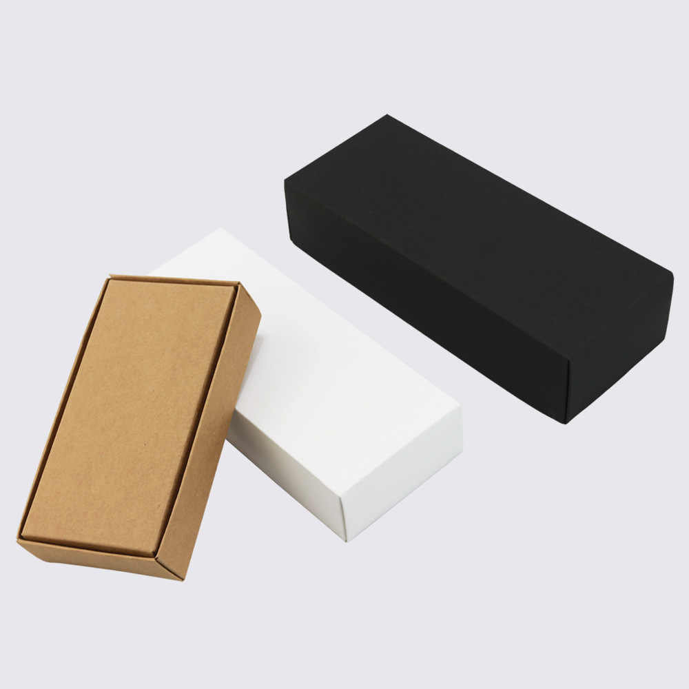 Large Gift Box With Lid Paper Boxes For Packaging Small Carton box Kraft Box Soap Packing Black White gift box packaging