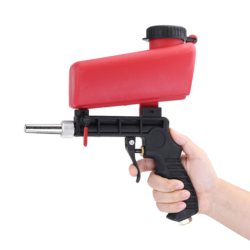 Upgrade Portable Sand Blaste Media Blasting Nozzle Guns Removing Spot Rust Adjustable Sandblast Flows Sandblasting Machine New