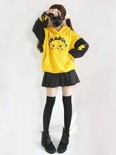 Soleil Lune Manteau Veste Top Jaune Hoodies Costume de Cosplay Sweater À Capuche Dessin Animé Pull À Manches Longues Manteau Dautomne