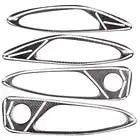 Car Door Handle Bowl Covers Interior Decoration Trim for Alfa Romeo Giulia 2017 Carbon Fiber Accessories Styling - 2