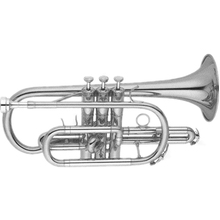Silver plated Phosphor copper leadpipe and bell Tone Bb Cornet