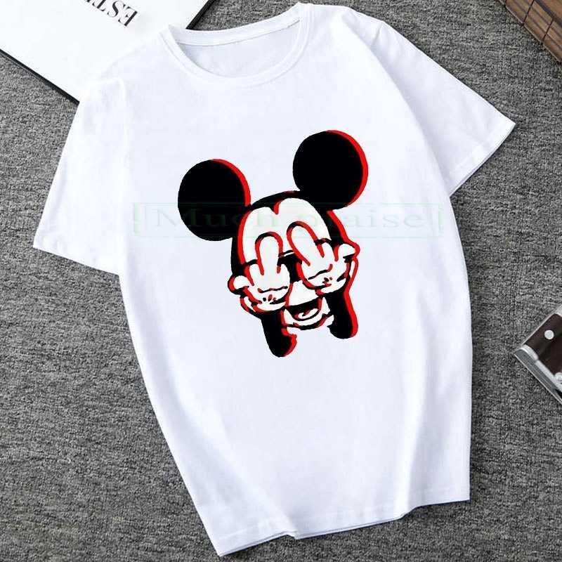 2020 Zomer Nieuwe Mickey Print Tees Muis T-shirt Mannen Tops Hip Hop Casual Grappige Cartoon Tshirt Comfort T-shirt