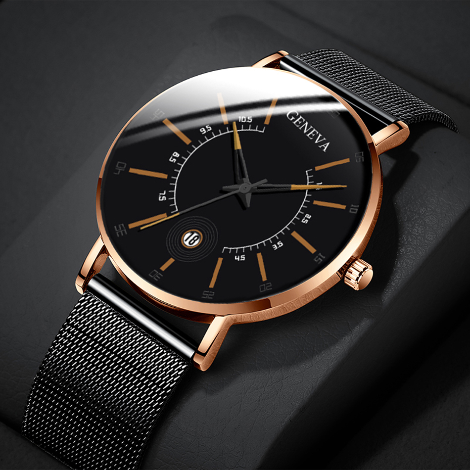 Hbb8d0a72bfc34d9ca7d2a4c937d9e1fd5 Relogio Masculino 2020 Fashion Mens Business Minimalist Watches Luxury Ultra Thin Stainless Steel Mesh Band Analog Quartz Watch