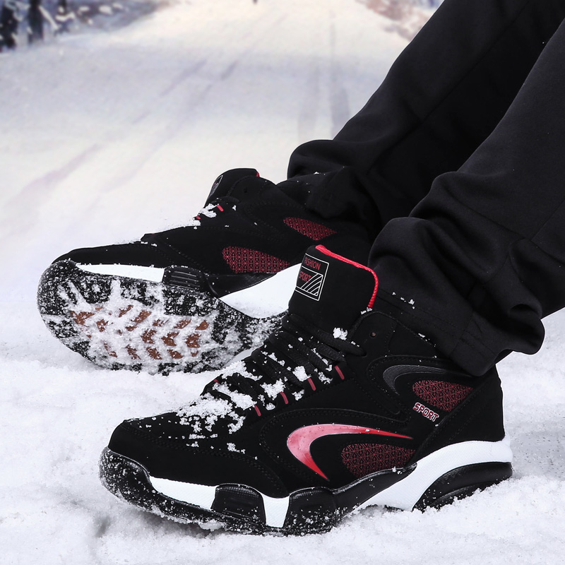 Unisex Winter Keep Warm Sneakers Men Women Snow Boots Waterproof Couple Outdoor Fur Plush Outdoor Sports Shoes Big Size 46 47 48