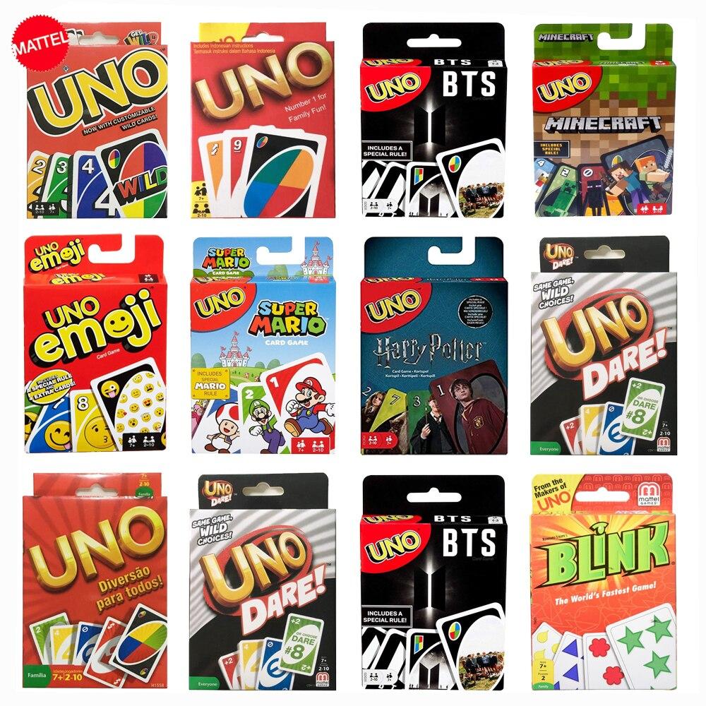 Martel nouveau jeu de cartes Uno famille drôle société de divertissement drôle Poker boîte cadeau Uno Poker jeu jeux jouets