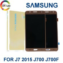 Super AMOLED LCD For Samsung Galaxy J7 2015 J700 J700F J700HJ700M LCD Display Touch Screen Digitizer Assembly brightness control(China)