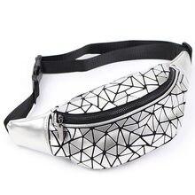 Saco geométrico para as mulheres sacos de cintura meninas fanny packs hip cinto sacos de dinheiro viajar montanhismo saco do telefone móvel pacotes de cintura