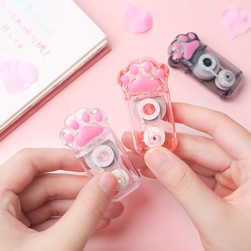 Cute Cartoon Mini Pink Cat-pad Correction Tape Material Escolar Kawaii Corrector Papeleria Student School Stationery Supply