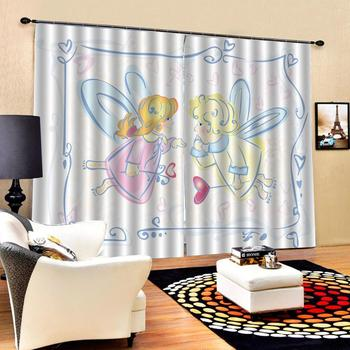 girals curtains 3D Window Curtain Dinosaur print Luxury Blackout For Living Room cartoon curtains