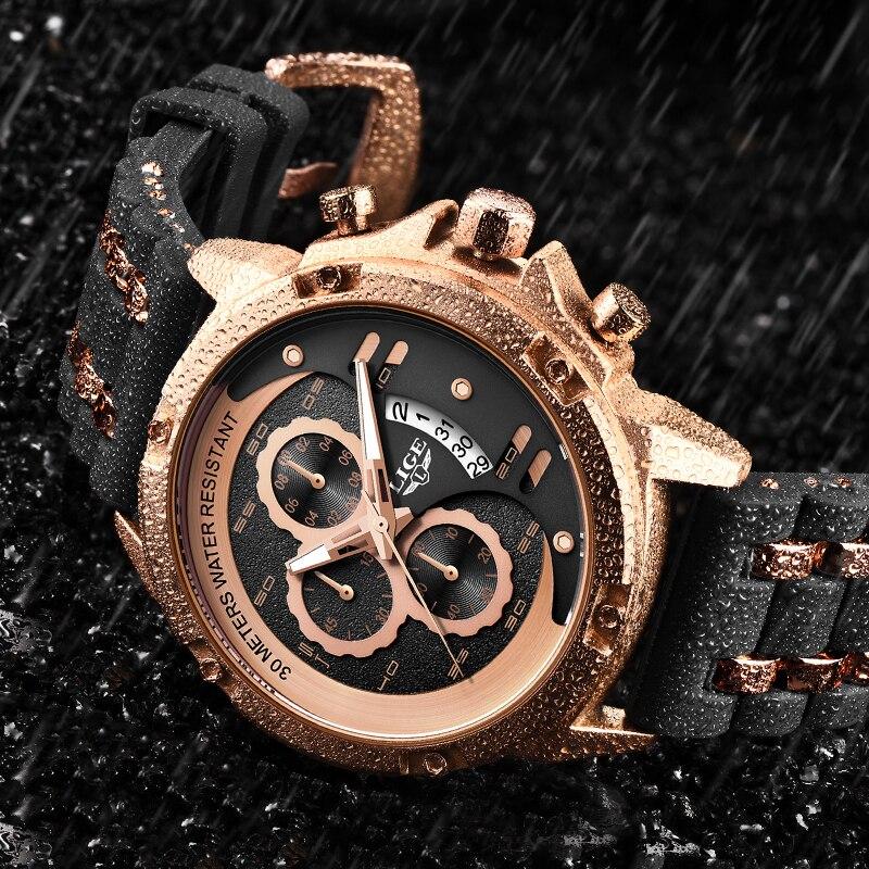 2020 New LIGE Watches Men Quartz Top Brand Analog Military Male Watches Men Sports Army Watch Waterproof Relogio Masculino+Box